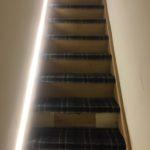 LED lights in stairs